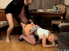 Horny teacher seducing teen