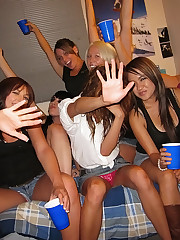 Horny mini skirt college teens make out and fuck after a few drinks real college amateur sex party