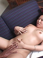 Cute Asian chick gets hammered by a brother