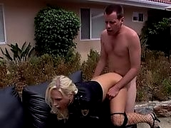 Adventurous couple having sex