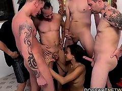 Adrian Maya Enjoys Taking A Bunch Of White Dicks