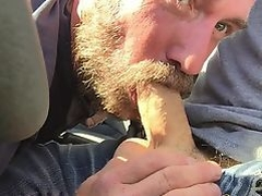 Manthroat Sucks pupbalto in car in public