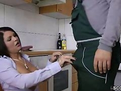 German Hot MILF Pay Stranger with Fuck after Work