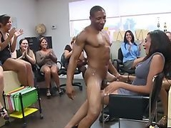 Sexy girls organize blowjob party