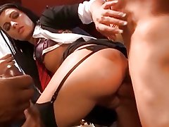Foreign student gets fucked by 3 teachers in a FMMM