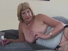 Dirty granny with wet thirsty vagina