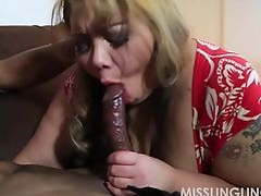 Exotic BBW Miss LingLing Gives Big Black Cock Sloppy Blowjob