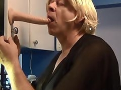 Naughty Gigi deep throat training