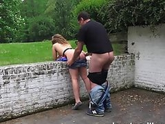 Teen doggystyle with older man