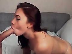 A couple with brunette who like deepthroat