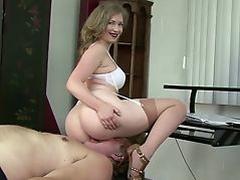 Mistress smothering Slave