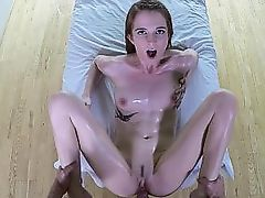 Oily butt bouncing