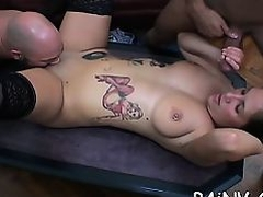 Nasty obese doxy in underware loves playing with her cunt