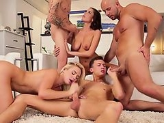 Bisexual studs bang pussies and ride cocks