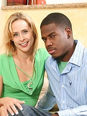 Hardcore interracial action between a MILF and her stepson