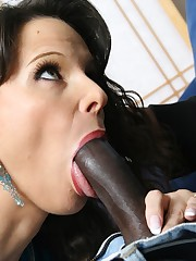 Well hung ebony stud balls deep in his step moms hot pussy