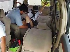 japanese schoolgirl dominated in the car