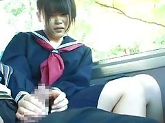 innocent schoolgirl used in a bus