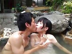 relaxing bath with his asian girl