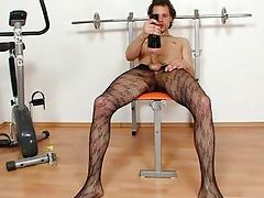 horny black haired guy ryan doing a solo