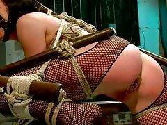hot brunette milf tied up in bondage