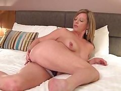 blonde european mature horny and solo