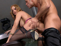 Abbie Flogger in Serve to be served