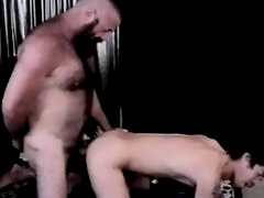 Hairy bearded monster daddy punishes boi