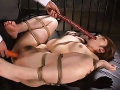 japanese whore attains a thick cane in her face
