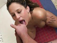 cum between her sweet lips