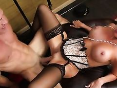 big boobs and ass milf impaled by cock